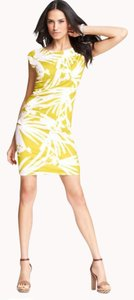 Ann Taylor short dress XS Petite Yellow-Green on Tradesy