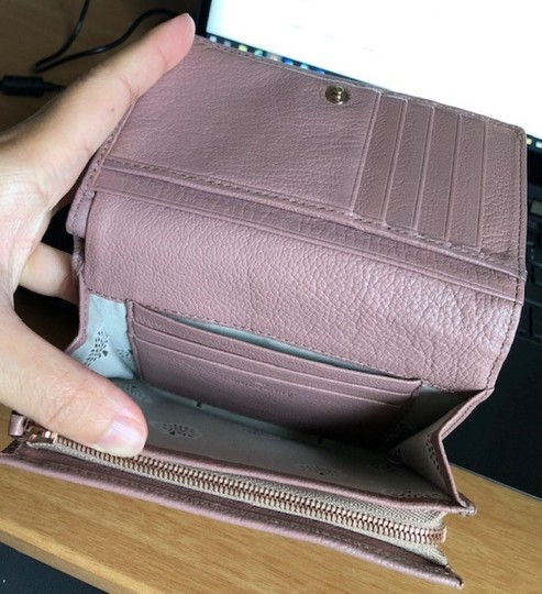 Mulberry Vintage Leather Light Pink Clutch