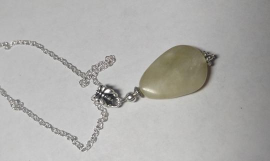 Other Agate Stone Necklace Sterling Silver Chain A016