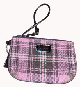 Coach Small Wallet Wallet Whristlet Wristlet in Plaid