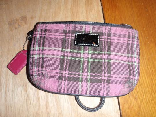 Coach Small Wallet Wallet Small Pouch Wristlet in Plaid