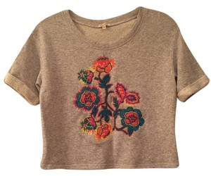 Rachel Roy Floral Embroidered Sweatshirt