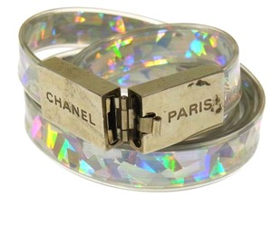 Chanel Authentic CHANEL Vintage CC Logos Silver Belt 00T France Accessories LP12684