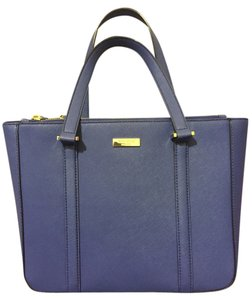 Kate Spade Gold Hardware Tote in Blue