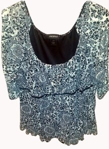 Lane Bryant Polyester Plus-size Top Black and White
