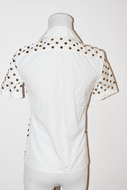 Dsquared2 Italy Pins Women Size Small Top white