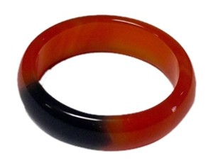 Other Agate stone ring size 7 orange