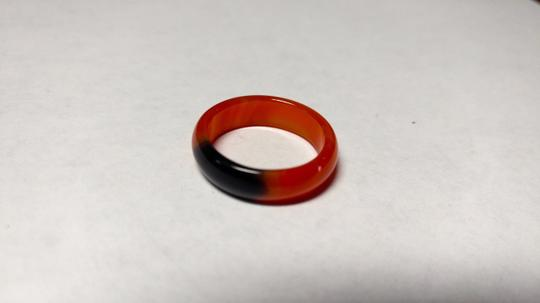 Other Agate stone ring size 7 orange A013