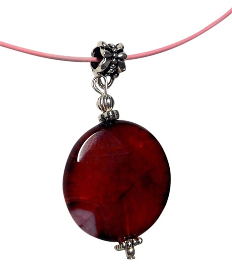 Preload https://item2.tradesy.com/images/dark-red-agate-pendant-on-a-cord-a13-necklace-9928561-0-2.jpg?width=440&height=440
