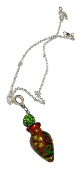 Preload https://img-static.tradesy.com/item/9928618/brown-green-silver-perfume-vile-pendant-on-a-sterling-chain-a014-necklace-0-1-540-540.jpg