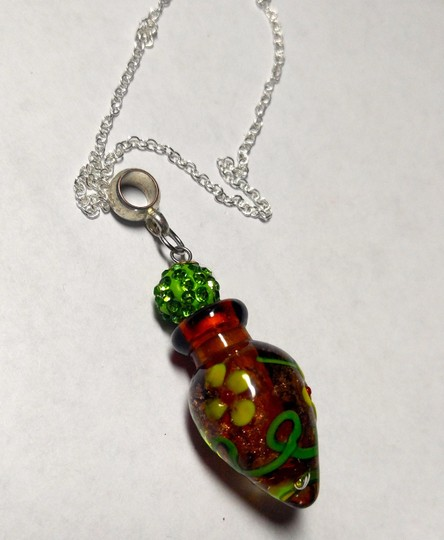 Other Perfume vile pendant on a sterling silver chain A014