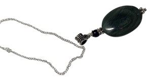 Other Moss Agate stone necklace on a Sterling Silver chain A032