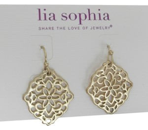 Lia Sophia Lia Sopha Dairy Earrings in Matte Gold