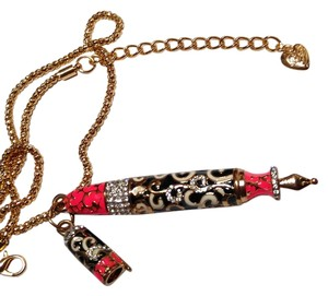 Betsey Johnson Betsey Johnson Fountain Pen Pendant Necklace N088
