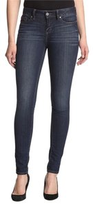 Yummie By Heather Thomson Slimming Mid Rise Straight Skinny Jeans-Dark Rinse