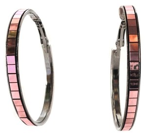 Metallic Pink hoop earrings NEW Jewelry