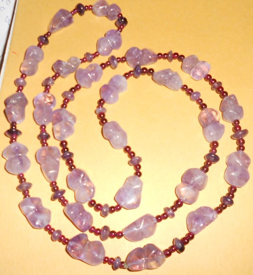 Other Real Amethyst And Garnet Necklace 56