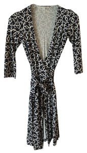 Diane von Furstenberg short dress Black & White on Tradesy