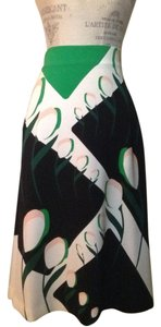 Thom Browne Skirt Ivory Green and Black Floral