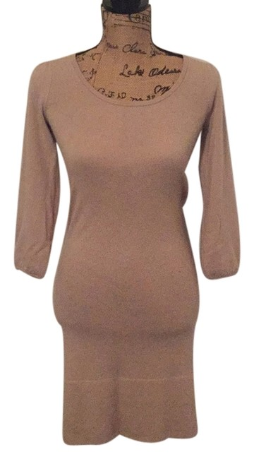 Preload https://item4.tradesy.com/images/tan-cashmere-knee-length-short-casual-dress-size-0-xs-9931348-0-1.jpg?width=400&height=650