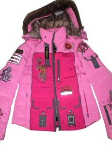 Bogner ski parka Pink on pink ( has every color on embroidery ) Jacket