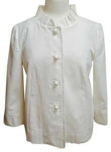 J.Crew Spring Quarter Sleeves Cotton White Jacket