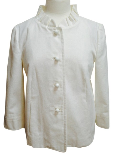 J.Crew Quarter Sleeves Cotton White Jacket