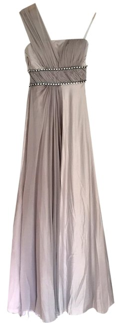 Preload https://item3.tradesy.com/images/coniefox-gray-one-shoulder-chiffon-satin-maxi-party-bridesmaid-prom-long-cocktail-dress-size-0-xs-9932857-0-1.jpg?width=400&height=650