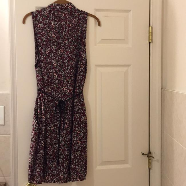 Aritzia by wilfred 100 silk. short dress Red floral pattern on Tradesy