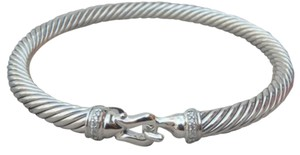 David Yurman David Yurman 5mm Cable Buckle Bracelet with Diamonds