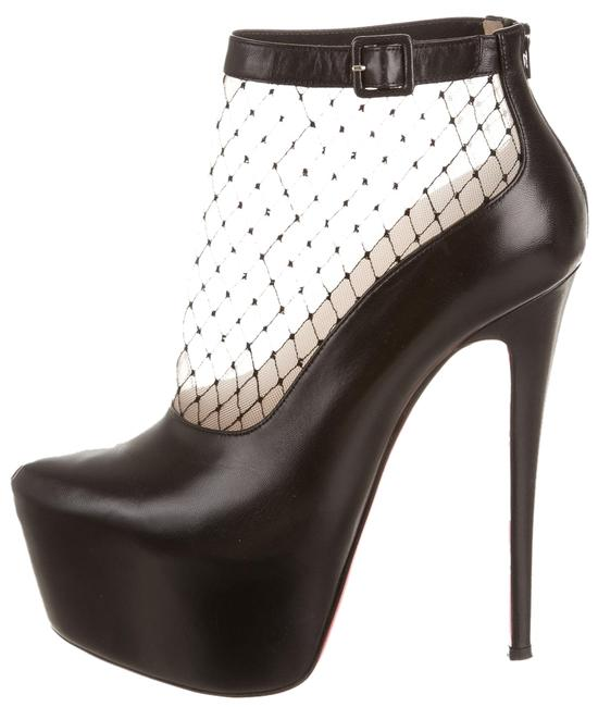 Christian Louboutin Black Lace Illusion Pointed-toe Ankle Boots/Booties Size US 8 Regular (M, B) Christian Louboutin Black Lace Illusion Pointed-toe Ankle Boots/Booties Size US 8 Regular (M, B) Image 1