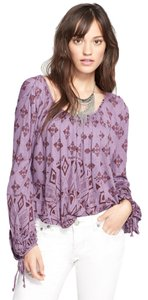 Free People Keyhole Top Purple