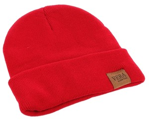 Woven Winter Beanie - Red
