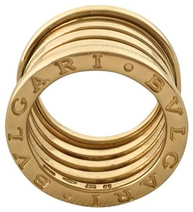 BVLGARI B.zero 1 FIVE (5) ROW 13 mm 18k Yellow Gold in Box with Papers