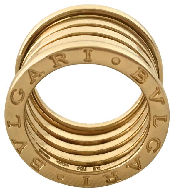 Item - 18k Yellow Gold Box W B.zero 1 Five (5) Row 13mm In W/ Papers Designer Size 50 Ring