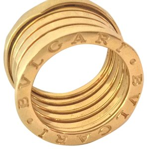 BVLGARI B.zero1 FIVE (5) ROW 18K Gold New in Box with PAPERS