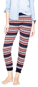 J.Crew Fair Isle Merino Wool Navy Leggings