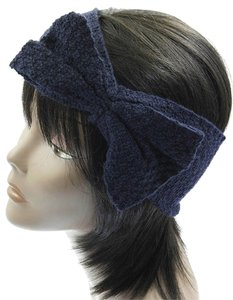 Other Bow Knitted Head Band / Ear Muffs - Blue
