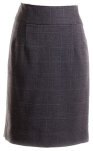 Banana Republic Skirt Gray Plaid