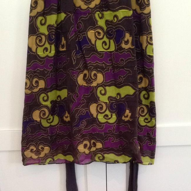 Free People short dress Purple (with yellow and green in print) on Tradesy