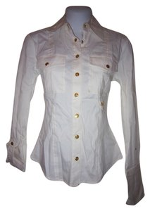 Cache Button Down Shirt White