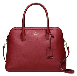 Kate Spade Satchel in Train car red/gold