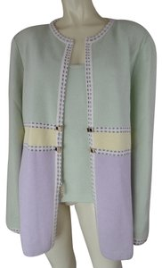 St. John St Set 2 Pc Light Green, Yellow, Lavender Blazer