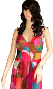 Tracy Reese Silk Slip Slip Satin Pink Red Teal Women Clothing Fashion Designer Dress