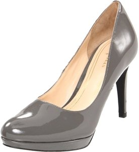 Cole Haan Heels Work Comfortable Patent Leather Leather Modern Sophisticated Grey Pumps