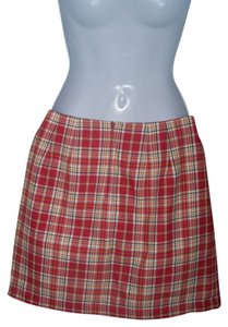 Gap Size 4 Mini Mini Skirt RED PLAID
