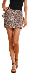 Isabel Marant Peplum Mini Floral Mini Skirt Multicolor