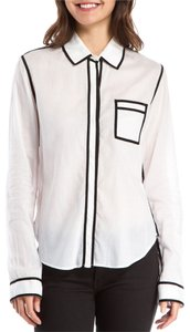 Proenza Schouler Proenza White Blouse Button Down Shirt white/black trim