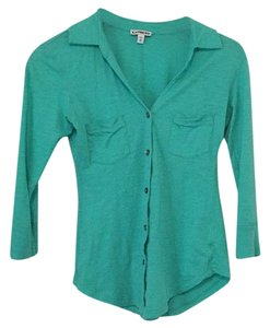 Express Button Down Shirt Green