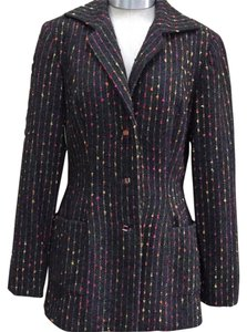 Peggy Jennings Charcoal Gray/Multi Blazer